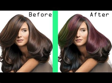Tutorial Ombre Rambut Tanpa Bleaching | tutorial mudah mewarnai rambut ombre dengan photoshop
