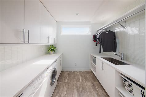 Narrow Her Laundry Room Contemporary With Front Loading Narrow Laundry