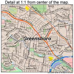 map of greensboro carolina greensboro nc