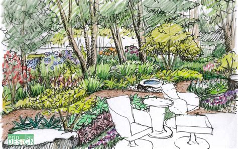 layout of forest nursery garden creation how to draw a perspective sketch