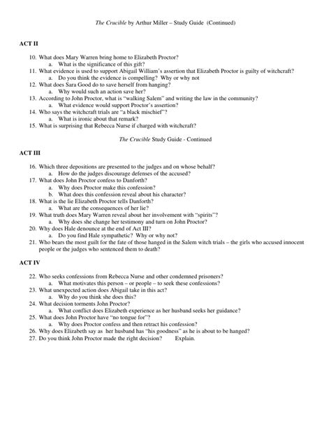 crucible themes act 3 the crucible act 3 study guide questions and answers