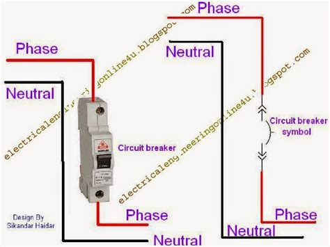 circuit breaker wiring diagram symbol