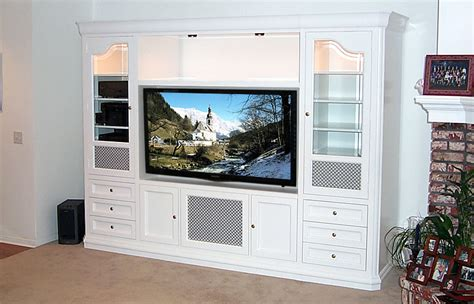 built in entertainment wall units studio design