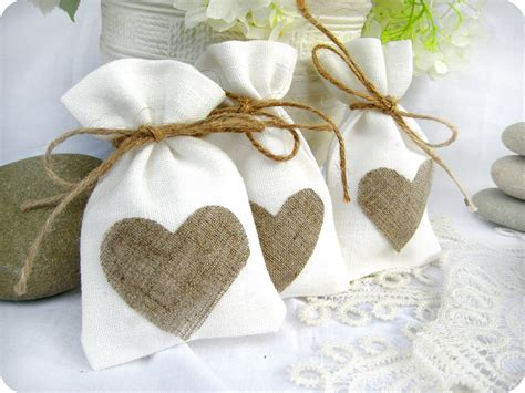 Wedding Favors Bags by Set Of 50 Wedding Favor Bags White Rustic Linen Wedding