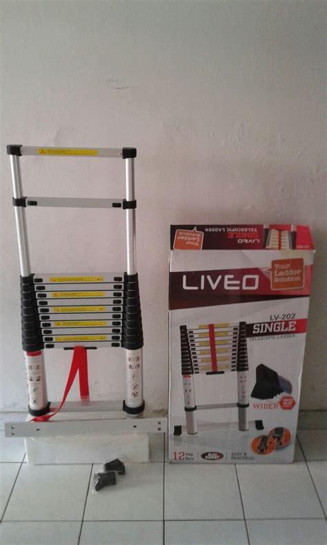 Tangga Alumunium Ladder 3 8 M Tangga Telescopic tangga single dan magig telescopic ladder liveo