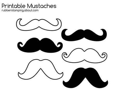 mustache template printable free mustache moustache printable image