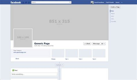 facebook layout template vector blank facebook timeline www pixshark com images