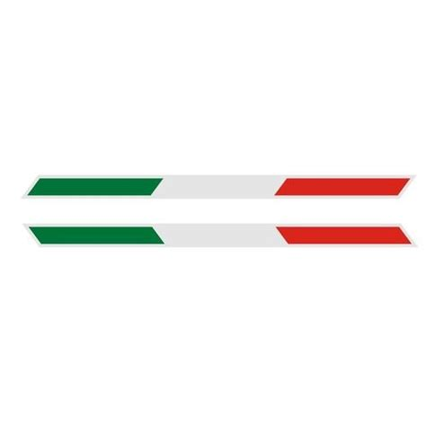 Italien Sticker Vespa by Pair Reflective Italy Italian Flag Parallelogram B Strip