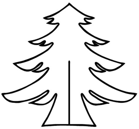 printable christmas tree cutouts christmas tree cutout pattern patterns and ideas xmas