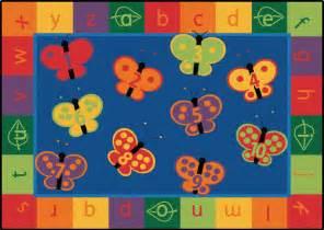 123 abc butterfly preschool rug 7 8 x 10 10 free shipping