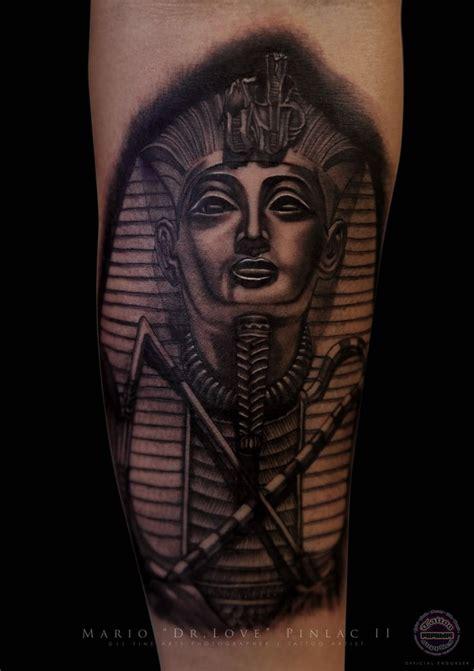 black and grey egyptian tattoo realistic black grey pharaoh tattoo the doctor s