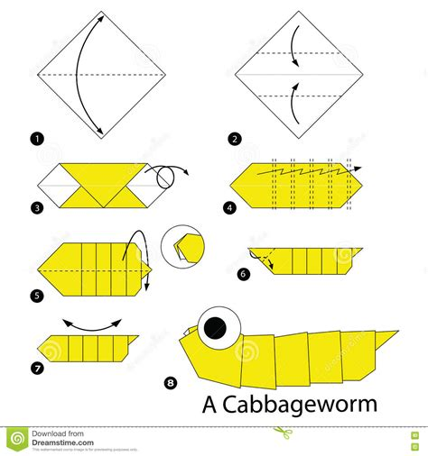 How To Make A Paper Worm - step by step how to make origami a cabbage