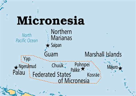 micronesia map federated states of micronesia operation world