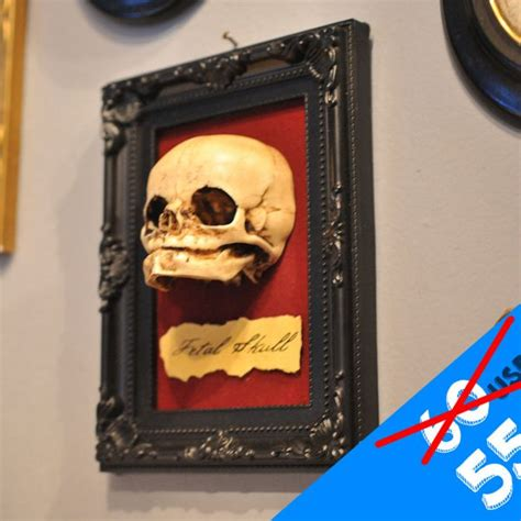 Oddities Home Decor by Oddity Fetal Skull Display Replica Victorian Oddities