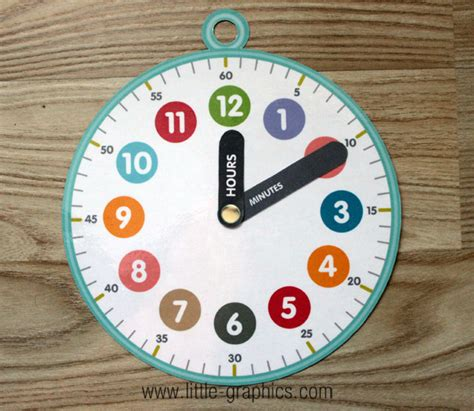 printable paper clock free printable clock with hour and minute hand labeled diy
