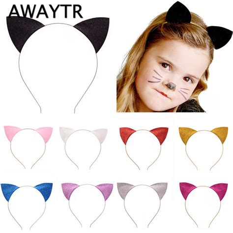 hair accessories to keep hair behind ears kids hairbands for girls 2017 cat ear hair band for women