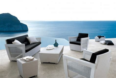 Furniture Best Modern Outdoor Patio Furniture Set With Modern Patio Sofa