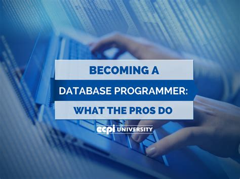 becoming a database programmer what the pros do