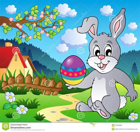 easter themes pictures easter bunny theme image 4 stock vector image of
