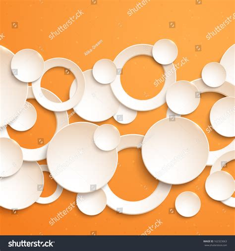 Sticker 3d Wallpaper Dinding Circle Ring 5pcs abstract geometric 3d background white paper stock vector 162323063