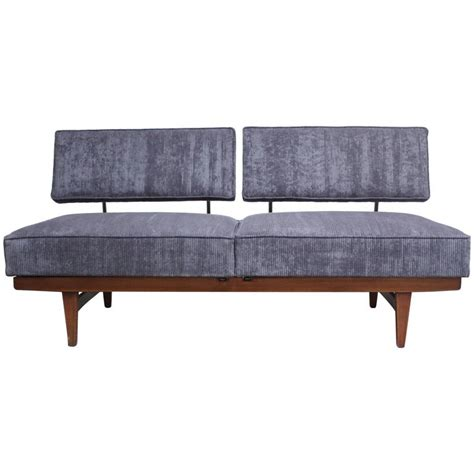 convertible daybed couch danish modern convertible daybed sofa on chrome and walnut