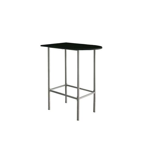 silver metal bar table black silver metal 24 quot x 36 quot spacesaver bar table