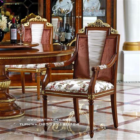Kursi Meja Makan Ukir Mewah Jepara meja makan bulat kayu jati jepara jati karya furniture