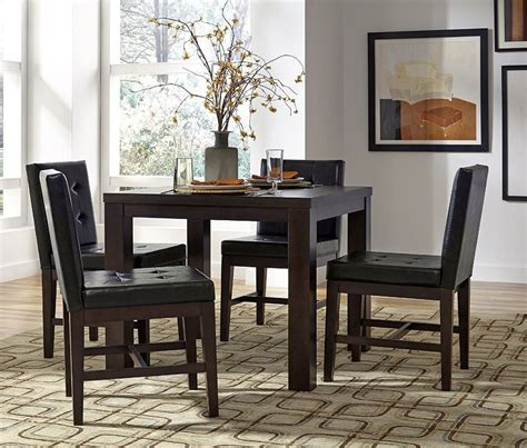 square dining room set athena dark chocolate square dining room set p109d 12