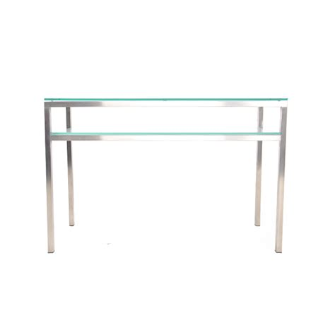 Glass Entry Table Entry Table Brushed Aluminum With Frosted Glass Istage Homes