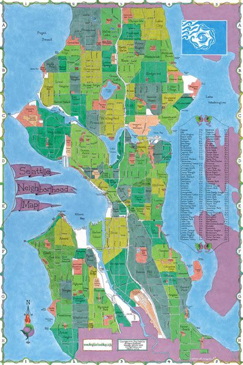 seattle neighborhood map buerger seattle neighborhoods