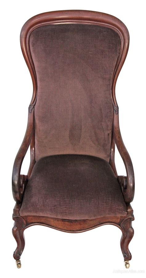 nursing armchair victorian ladies scroll armchair chair nursing antiques