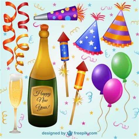 imagenes animadas año nuevo elementos de la fiesta de a 241 o nuevo descargar vectores