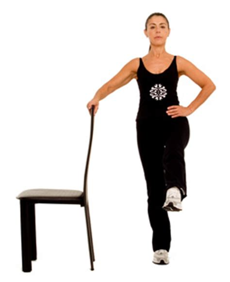 Armchair Exercises by Chair Leg Lifts
