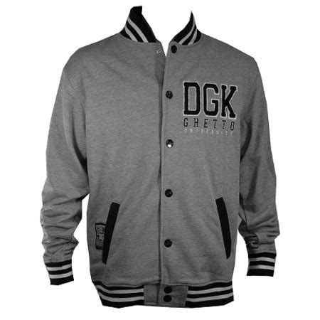 Applique Snap Button Jacket dgk scholar snap up fleece jacket in stock at spot skate shop
