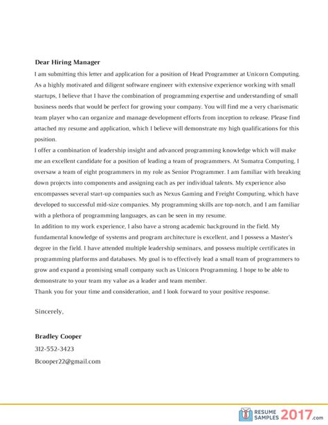 Best Resume Cover Letter 2017 by Effective Cover Letter Samples 2017 Resume Samples 2017