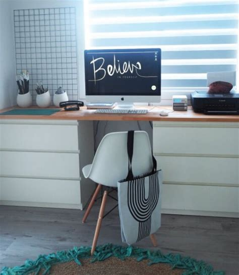 Ikea Office Desk Hack 11 Exciting Ikea Hacks For Any Home Office Shelterness