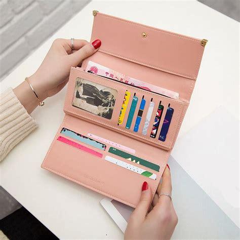 Chane L Tempat Kartu Ada Resleting Mirror Quality dompet wanita model purse black jakartanotebook