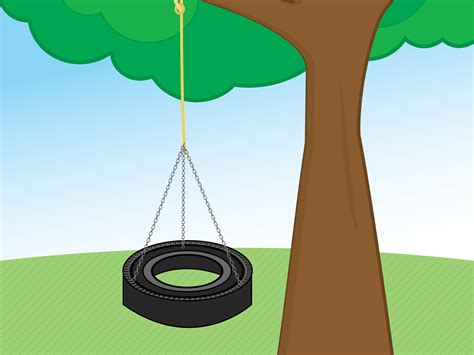 swing como how to make a tire swing with pictures wikihow