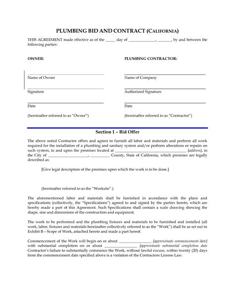 28 small business contracts templates doc 585630