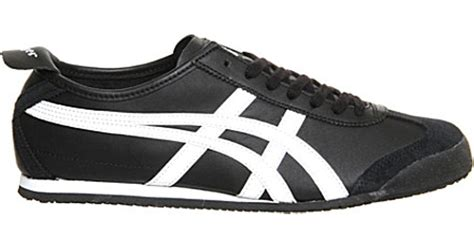 Po Onitsuka Tiger Lawnship Leather onitsuka tiger mexico 66 leather trainers in black lyst