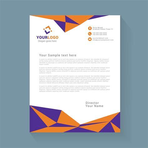 abstract geometric letterhead design wisxicom