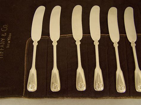 shell pattern butter knife 7982 8 tiffany co sterling silver shell thread pattern
