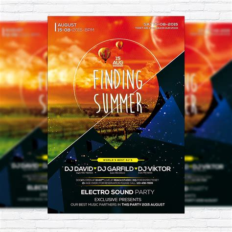 premium flyer templates finding summer premium flyer template cover