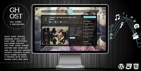 themeforest ghost ghost themeforest wp full screen video image with audio