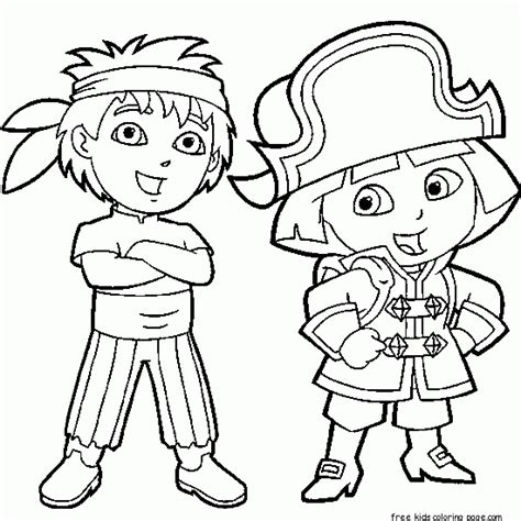 Dora The Explorer Diego Coloring Pages Coloring Pagesfree The Explorer Coloring Pages Printable