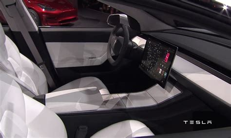 tesla model 3 interior seating tesla model 3 officially revealed performancedrive