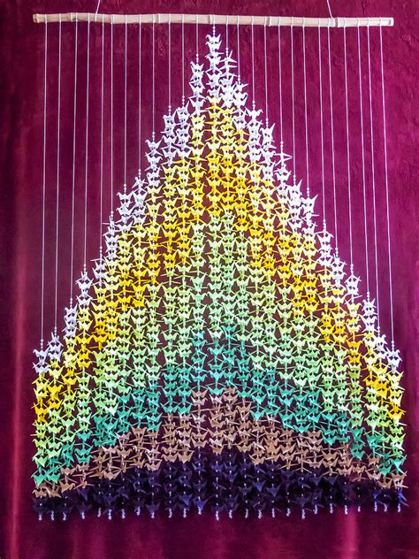 Origami 1000 Cranes - origami 1000 crane earth senbazuru mixed media by