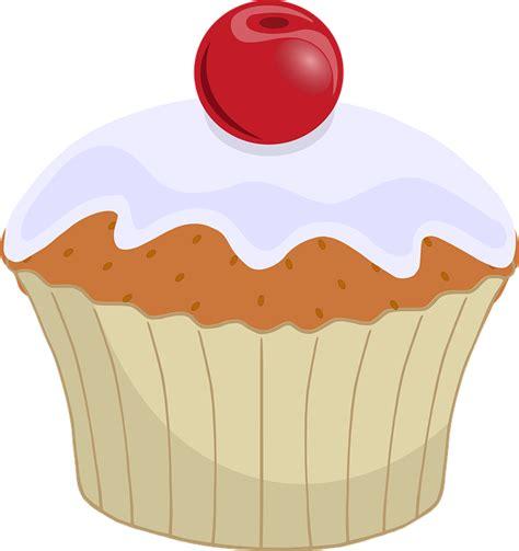 cupcake clipart cherry cupcake dessert 183 free vector graphic on pixabay