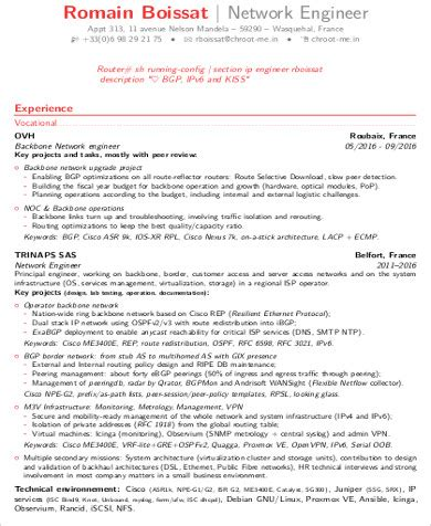 Network Engineer Resume Sle by Best Exle Resumes 2017 Best Exle Resumes 2017