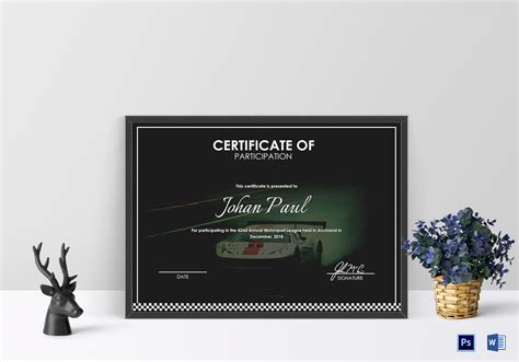 motosport templates annual motorsport certificate design template in psd word